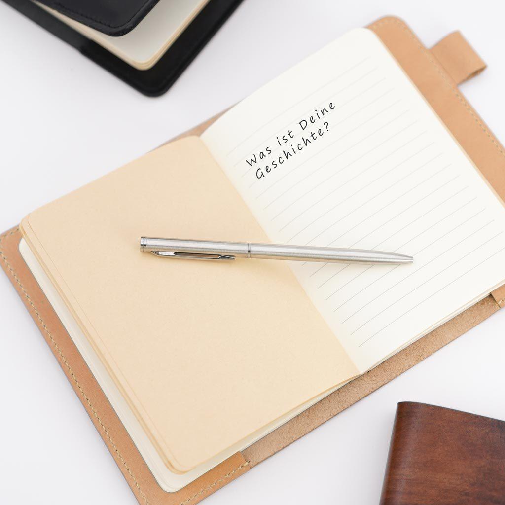 Notizbuch, Leder, Blog