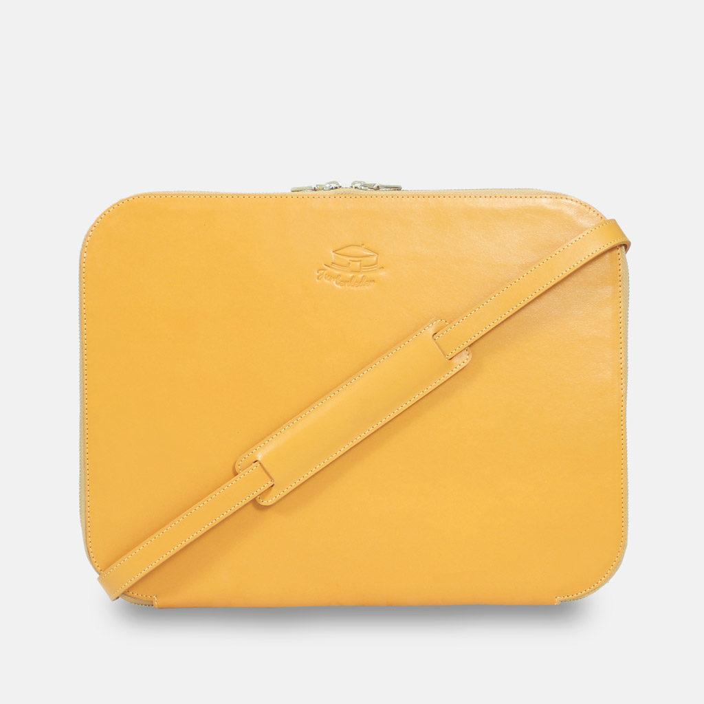 Businesstasche, Leder, gelb