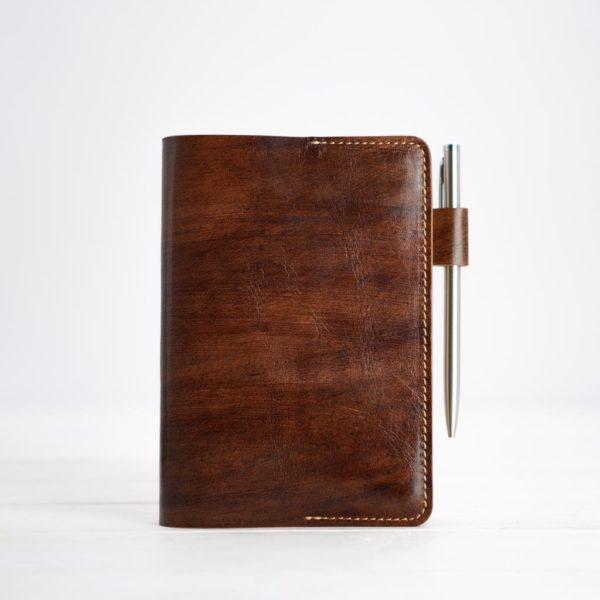 Braunes A6-Tagebuch, Leder
