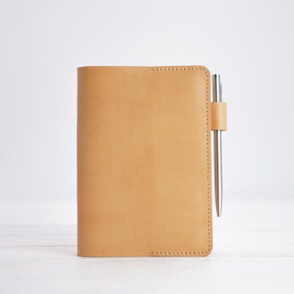 Notizbuch, DIN A6, Naturleder