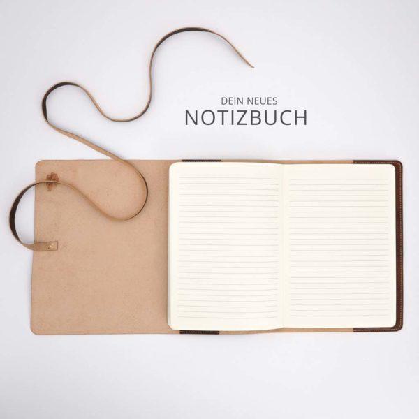 Notizbuch, braunes Leder, A5