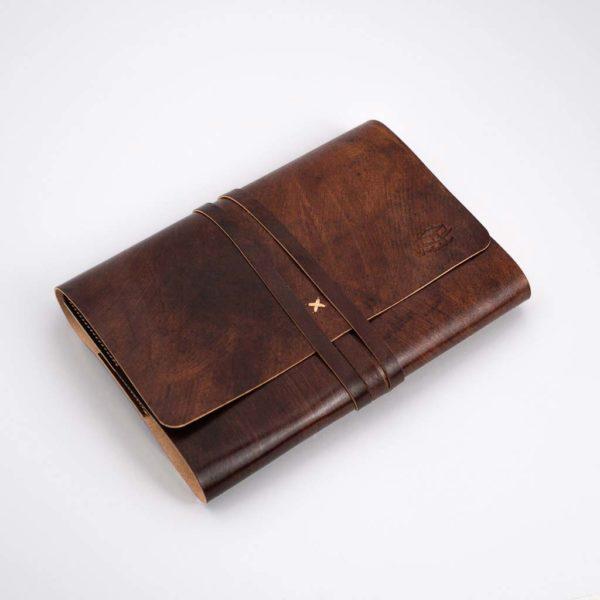 Notizbuch, Leder, braun