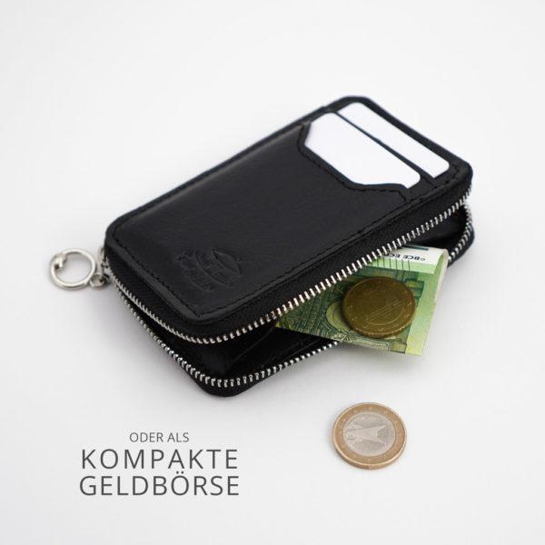 Mini-Geldbörse, schwarz