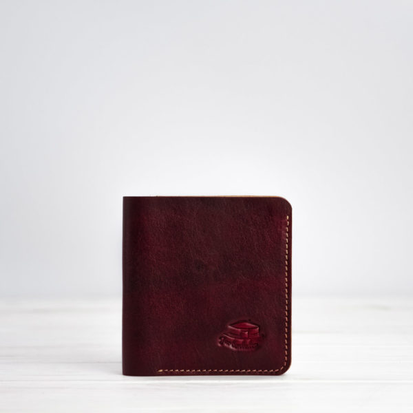 Slim wallet, leder, rot
