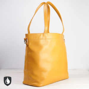 Damenhandtasche, gelbes Leder